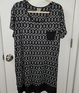 Anne Klein Ikat Design Dress